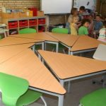 Klassenzimmer: Unsere Tische sind individuelle und je nach Bedarf zusammenstellbar.
