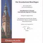 Urkunde Umweltschule
