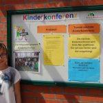 Im Aushang finden die Schüler Informationen zur aktuellen Terminen.