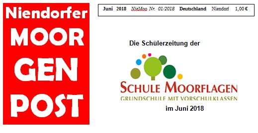 Schülerzeitung Moorgenpost Juni 2018