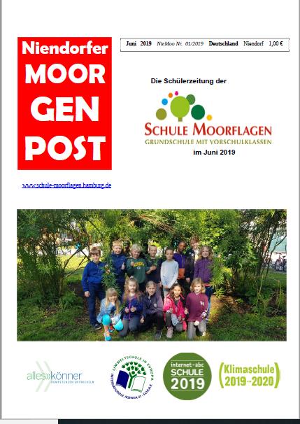 Schülerzeitung Moorgenpost Juni 2019
